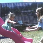 Savannah Johnson on the playground