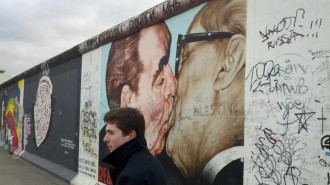 Mitchell Fennell at the Berlin Wall