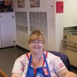 Cafeteria manager Christina Lehman (Rogue News/Karl Moeglein)